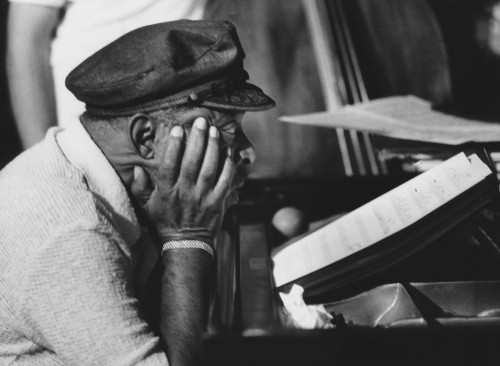 Count Basie Pondering at the Piano