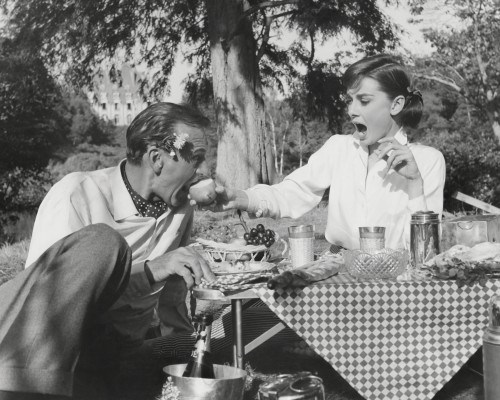 Gary Cooper and Audrey Hepburn: Lovers on a Picnic