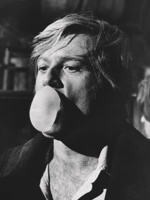 Robert Redford Blowing a Bubble