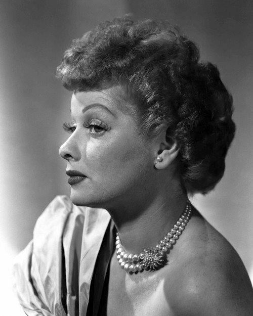 Lucille Ball Profile in Pearls
