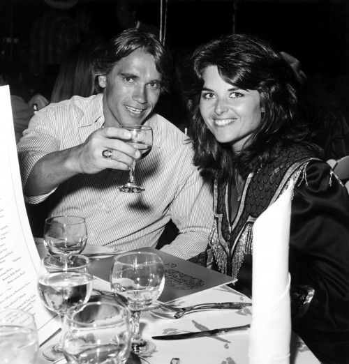 Arnold Schwarzenegger and Maria Shriver at the 30th Annual Boomtown Party