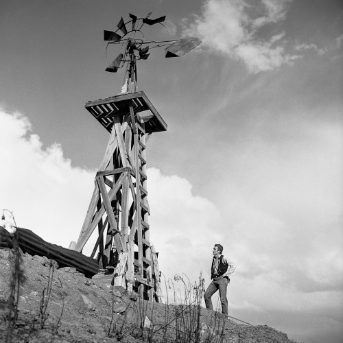 """James Dean with Windmill in """"Giant"""""""
