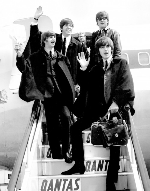 The Beatles Arriving in London