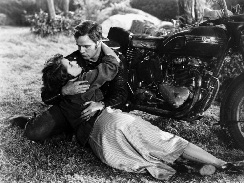 """Marlon Brando and Mary Murphy in """"The Wild One"""""""