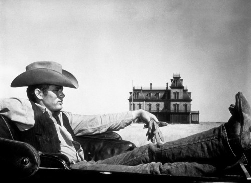 """James Dean Reclining in """"Giant"""""""
