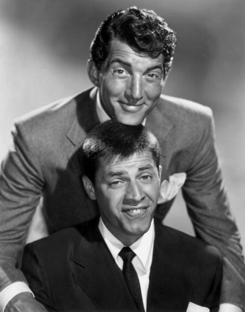 Dean Martin and Jerry Lewis Silly Portrait