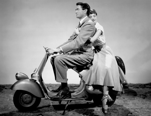 """Gregory Peck and Audrey Hepburn in """"Roman Holiday"""""""