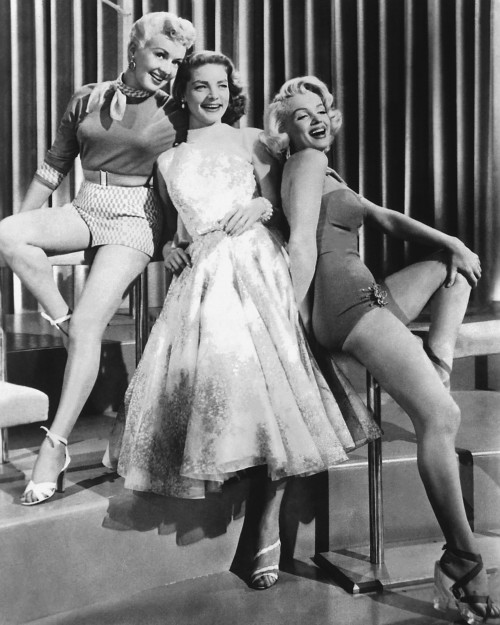 Betty Grable, Lauren Bacall, and Marilyn Monroe: Showgirls
