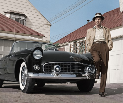 Frank Sinatra Standing with Tbird