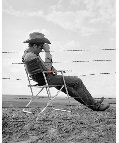 """James Dean Behind Fence in """"Giant"""""""