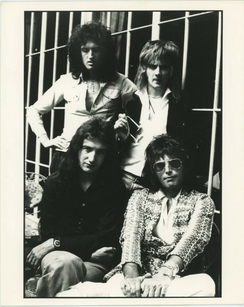 """""""Queen"""" Black and White Group Portrait 1975"""
